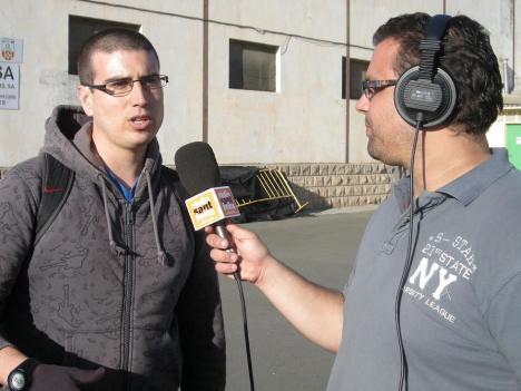 Jesús Manuel Gil, membre de Sentiment Immortal, ex directiu i cap de les xarxes socials del Santfeliuenc FC