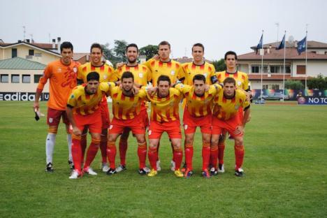 La Selecció Catalana en la final disputada a Abano Terme. Foto: Federació Catalana de Futbol.